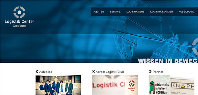 Logistik Center Leoben:  (© e-dvertising . Domainfinding . responsives Webdesign)